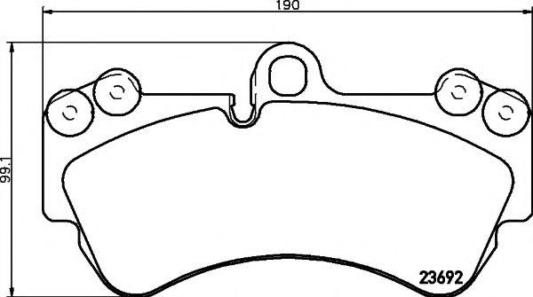 Комплект тормозных колодок, дисковый тормоз TEXTAR арт. 2369202