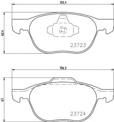 Комплект тормозных колодок, дисковый тормоз TEXTAR арт. 2372301