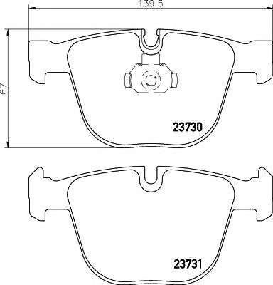 Комплект тормозных колодок, дисковый тормоз TEXTAR арт. 2373001