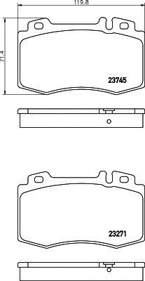 Комплект тормозных колодок, дисковый тормоз TEXTAR арт. 2374502
