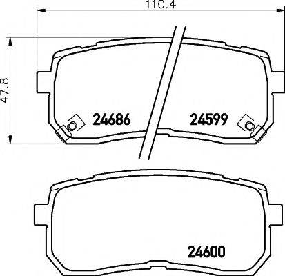 Комплект тормозных колодок, дисковый тормоз TEXTAR арт. 2459901