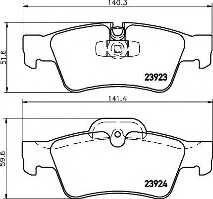 Комплект тормозных колодок, дисковый тормоз TEXTAR арт. 2392301