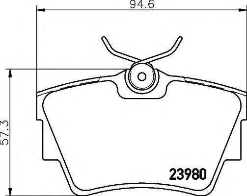 Комплект тормозных колодок, дисковый тормоз TEXTAR арт. 2398001
