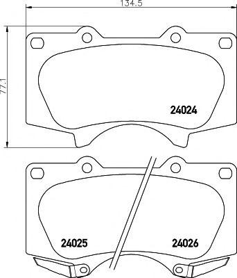 Комплект тормозных колодок, дисковый тормоз TEXTAR арт. 2402401