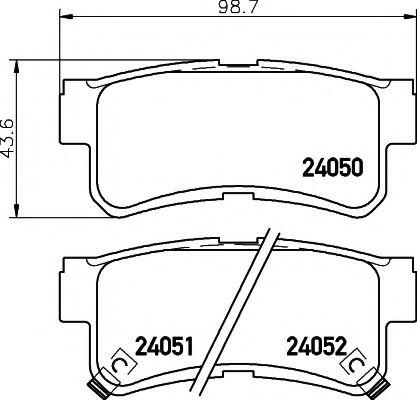 Комплект тормозных колодок, дисковый тормоз TEXTAR арт. 2405001