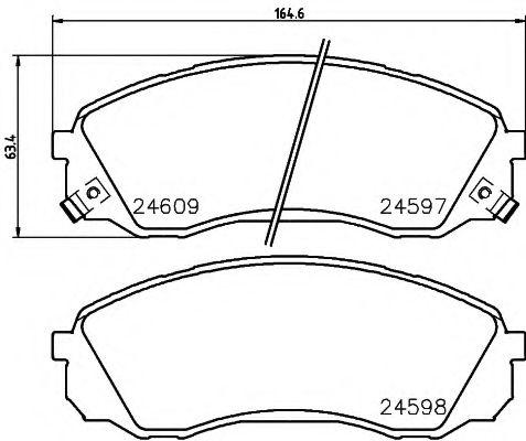 Комплект тормозных колодок, дисковый тормоз TEXTAR арт. 2459701