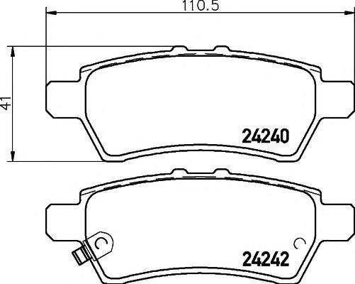 Комплект тормозных колодок, дисковый тормоз TEXTAR арт. 2424001