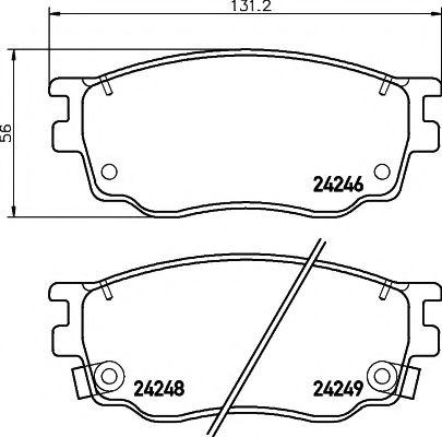 Комплект тормозных колодок, дисковый тормоз TEXTAR арт. 2424601