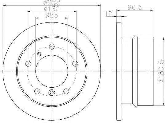 Тормозной диск TEXTAR арт. 92137503