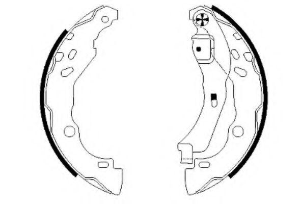 Комплект тормозных колодок TEXTAR арт.