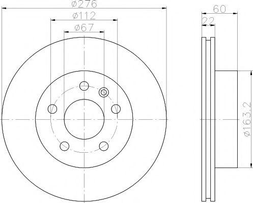 Тормозной диск TEXTAR арт. 92074403