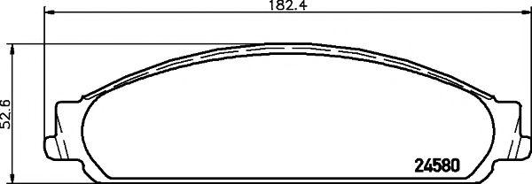 Комплект тормозных колодок, дисковый тормоз TEXTAR арт. 2458002