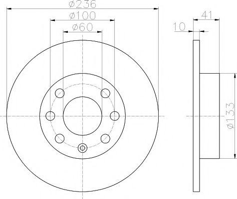 Тормозной диск TEXTAR арт.