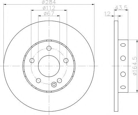 Тормозной диск TEXTAR арт. 92059303