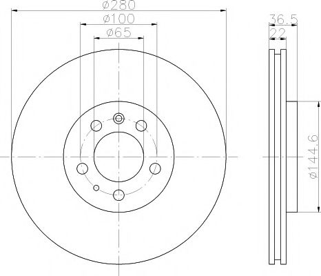 Тормозной диск TEXTAR арт. 92082305