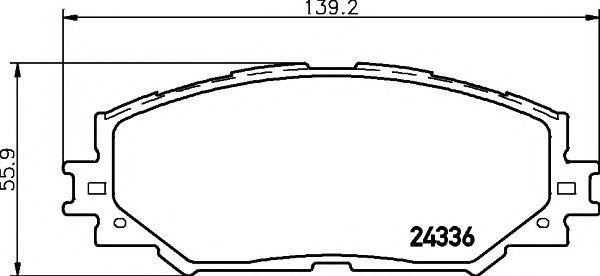 Комплект тормозных колодок, дисковый тормоз TEXTAR арт. 2433601