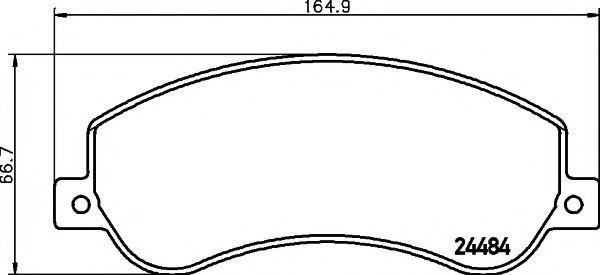 Комплект тормозных колодок, дисковый тормоз TEXTAR арт. 2448401