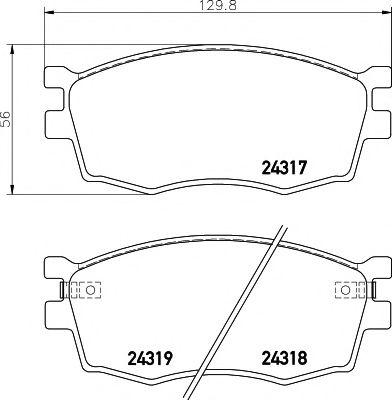 Комплект тормозных колодок, дисковый тормоз TEXTAR арт. 2431701