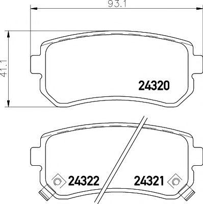 Комплект тормозных колодок, дисковый тормоз TEXTAR арт. 2432001