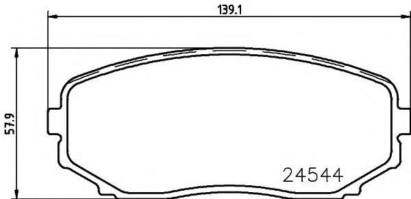 Комплект тормозных колодок, дисковый тормоз TEXTAR арт. 2454401