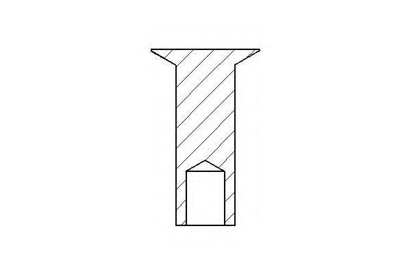 Заклепка, накладки барабанного тормоза TEXTAR арт. 88000700