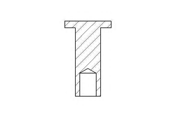 Заклепка, накладки барабанного тормоза TEXTAR арт. 86001500