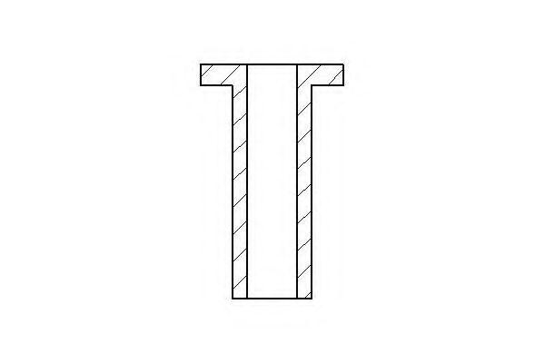 Заклепка, накладки барабанного тормоза TEXTAR арт. 87001500