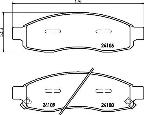 Комплект тормозных колодок, дисковый тормоз TEXTAR арт. 2410601