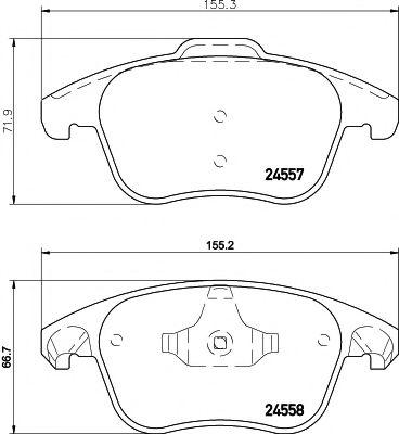 Комплект тормозных колодок, дисковый тормоз TEXTAR арт. 2455701