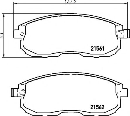 Комплект тормозных колодок, дисковый тормоз TEXTAR арт. 2156201