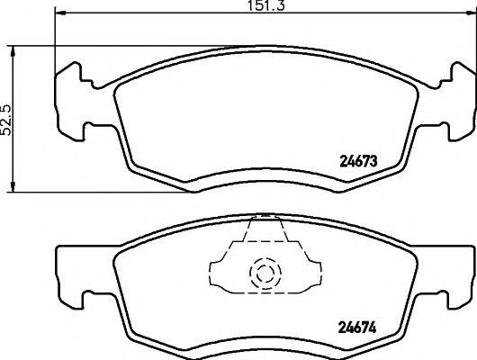 Комплект тормозных колодок, дисковый тормоз TEXTAR арт. 2467301