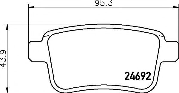 Комплект тормозных колодок, дисковый тормоз TEXTAR арт. 2469201