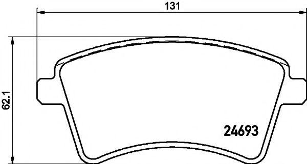 Комплект тормозных колодок, дисковый тормоз TEXTAR арт. 2469302