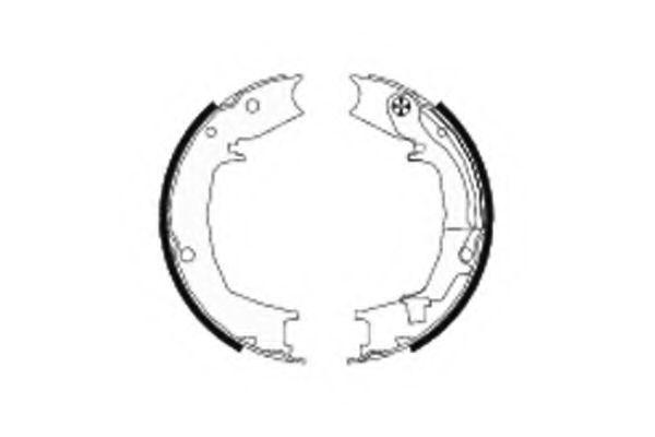 Комплект тормозных колодок, стояночная тормозная система TEXTAR арт.