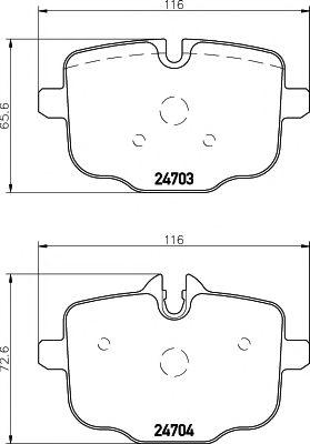 Комплект тормозных колодок, дисковый тормоз TEXTAR арт. 2470301