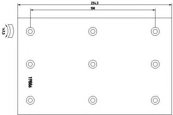 Комплект тормозных башмаков, барабанные тормоза TEXTAR арт. 1988501