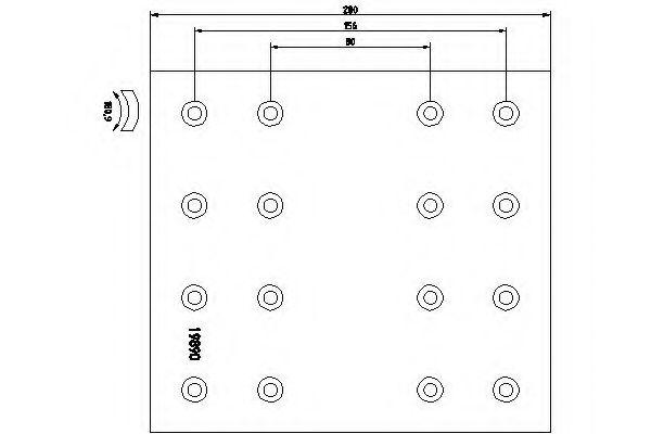 Комплект тормозных башмаков, барабанные тормоза TEXTAR арт. 1989007