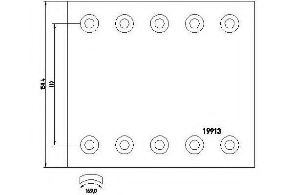 Комплект тормозных башмаков, барабанные тормоза TEXTAR арт. 1991202