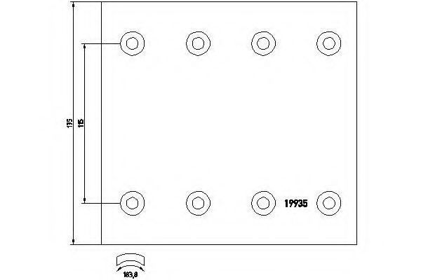 Комплект тормозных башмаков, барабанные тормоза TEXTAR арт. 1993514