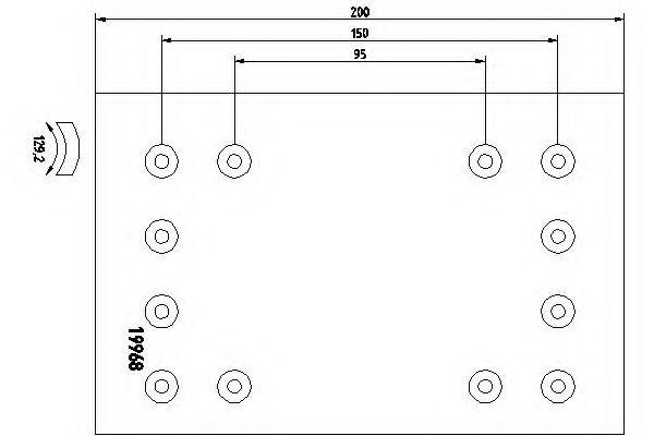 Комплект тормозных башмаков, барабанные тормоза TEXTAR арт. 1996709