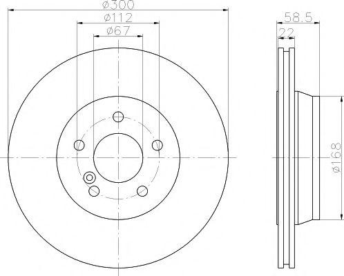 Тормозной диск TEXTAR арт. 92099503