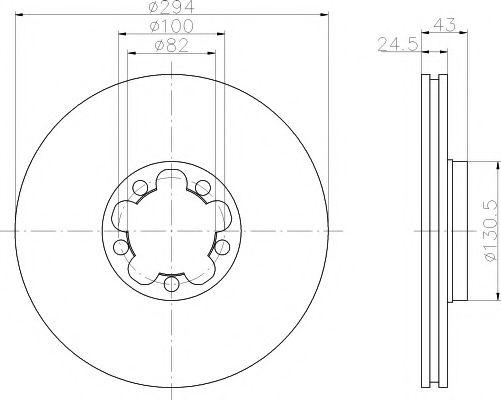 Тормозной диск TEXTAR арт. 92103803