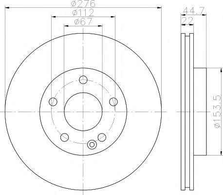 Тормозной диск TEXTAR арт. 92131903