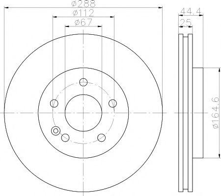 Тормозной диск TEXTAR арт. 92132003