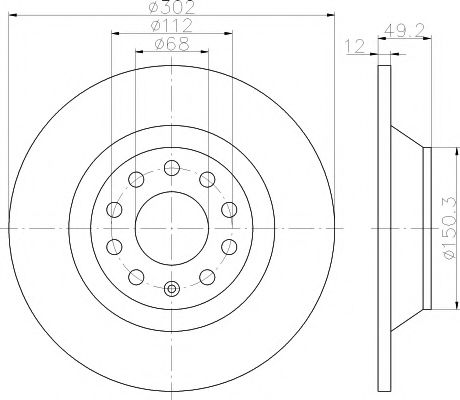 Тормозной диск TEXTAR арт. 92132503