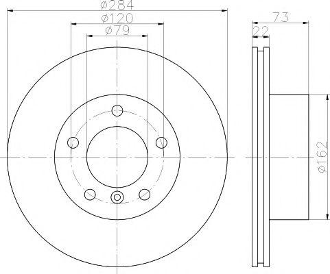 Тормозной диск TEXTAR арт. 92132703