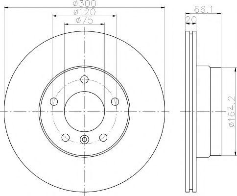 Тормозной диск TEXTAR арт. 92133003