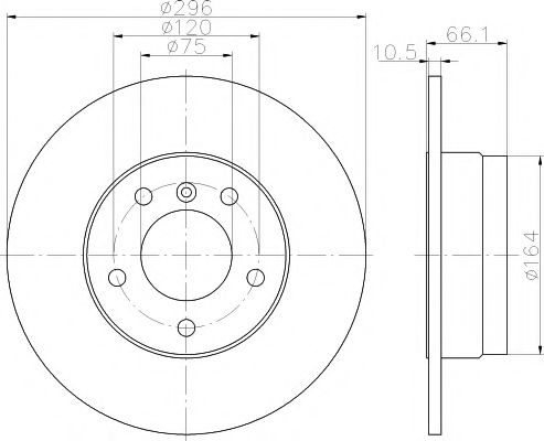 Тормозной диск TEXTAR арт. 92133103