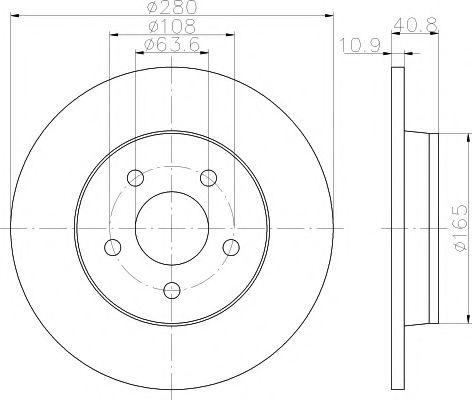 Тормозной диск TEXTAR арт. 92133803