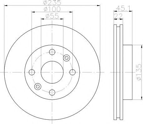 Тормозной диск TEXTAR арт. 92134200